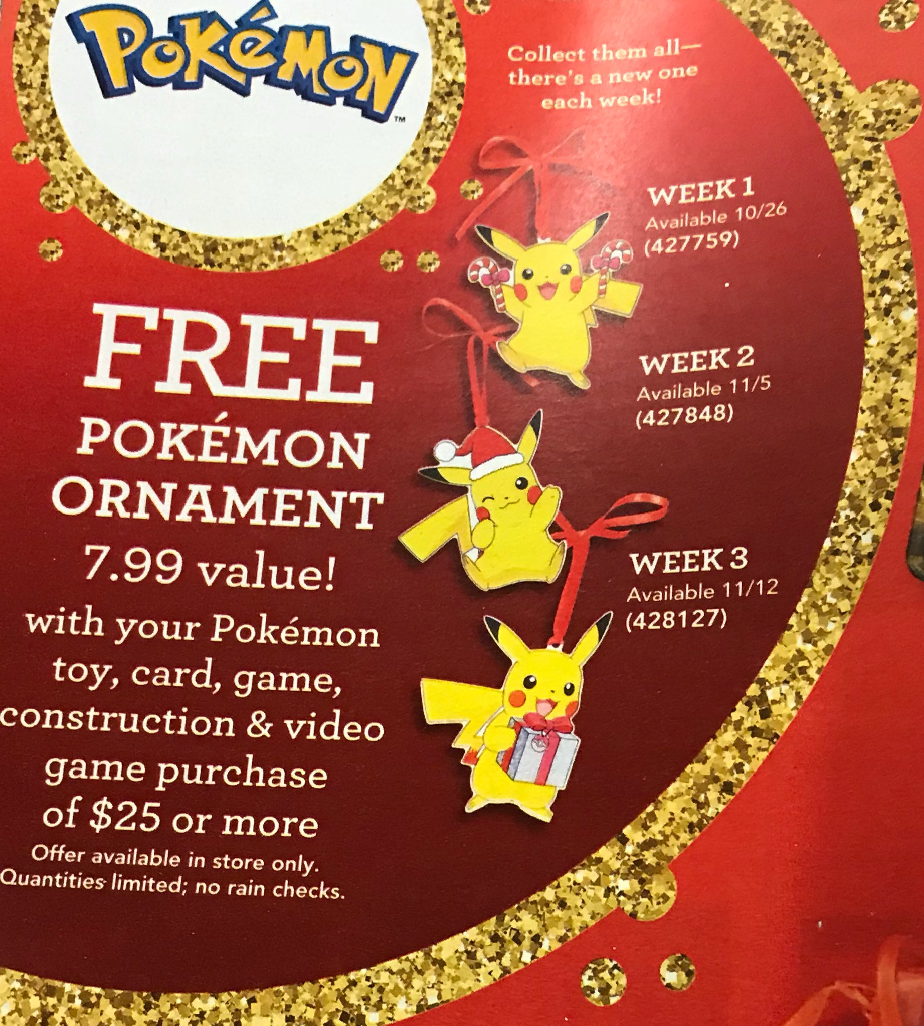 Pikachu Christmas Ornament.Free Pokemon Items At Toys R Us Pokemon Crossroads