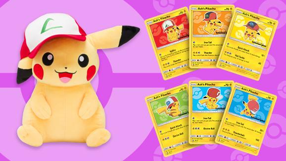 Movie 20 Pikachu Card and Plush