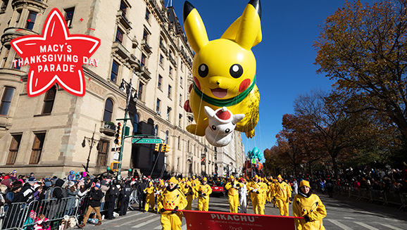 Pikachu Thanksgiving Parade