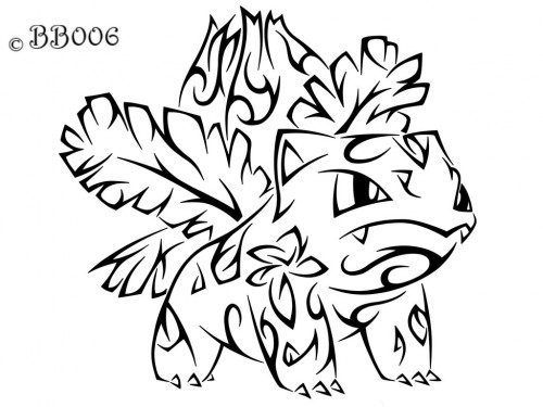 Tribal Ivysaur by blackbutterfly006