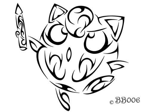 Tribal Jigglypuff by blackbutterfly006
