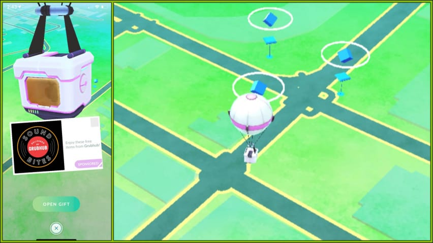 Pokemon GO ad balloons